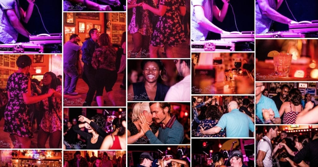 collage of salsa ithaca events